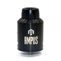 Ampus Style Screwless 24.5mm RDA Rebuildable Dripping Atomizer - Black
