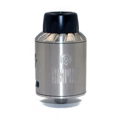 Ampus Style Screwless 24.5mm RDA Rebuildable Dripping Atomizer - Silver