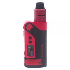 Authentic Sigelei Fuchai Vcigo K2 175W TC VW APV Box Mod + Cubic RDA Kit - Red