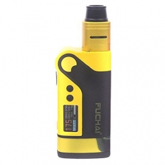 Authentic Sigelei Fuchai Vcigo K2 175W TC VW APV Box Mod + Cubic RDA Kit - Yellow