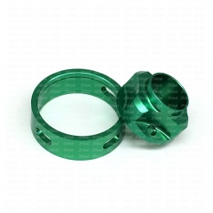 Ulton Replacement Top Cap and Airhole Ring for SQ Emotion Atomizer - Green