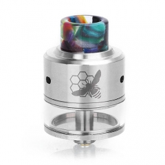 Authentic Aleader Little Bee 24mm RDTA Rebuildable Dripping Tank Atomizer - Silver