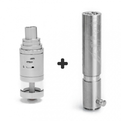 SER Kongestus 26650 Mechanical Mod + Big Thor 316SS Rebuildable Atomizer Kit - Silver