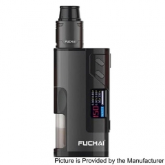 Authentic Sigelei Fuchai Squonk 213 150W TC VW Variable Wattage Mod Kit w/ 5ml Bottle - Black
