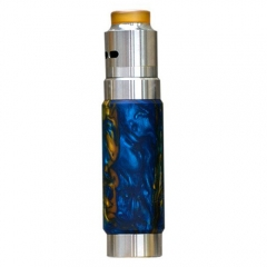 Authentic Wismec Reuleaux RX Machina Mechanical Mod + Guillotine RDA Kit - Swirled Metalic Resin