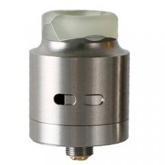 Authentic Wismec Guillotine 24mm RDA Rebuildable Dripping Atomizer - Silver + White Resin
