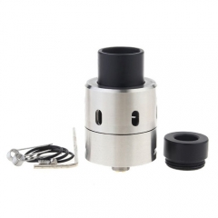 Velocity V4 Style 26mm RDA Rebuildable Dripping Atomizer w/ Bottom Feeding Pin - Silver