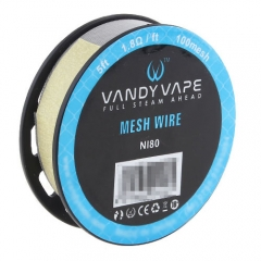 Authentic Vandy Vape Ni80 100 Mesh Wire 1.8ohm/ 5 Feet