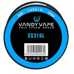 Authentic Vandy Vape 316L Stainless Steel 24AWG Heating Wires