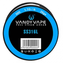 Authentic Vandy Vape 316L Stainless Steel 26AWG Heating Wires