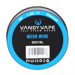 Authentic Vandy Vape SS316 150 Mesh Wire 5 Feet