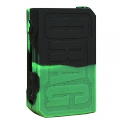 Protective Silicone Sleeve Case for VOOPOO DRAG 157W Mod - Black Green