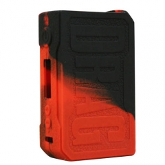 Protective Silicone Sleeve Case for VOOPOO DRAG 157W Mod - Black Red