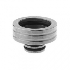 Stainless Steel 510 to 810 Drip Tip Adapter - Silver