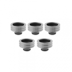 Stainless Steel 510 to 810 Drip Tip Adapter 5pcs- Silver