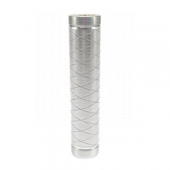 ULTON MK Style 24mm Mechanical Mod w/Logo Rough Version - Silver