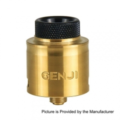 Authentic Tigertek Genji 24mm RDA Rebuildable Dripping Atomizer - Gold