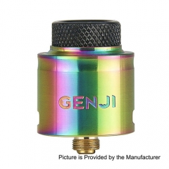 Authentic Tigertek Genji 24mm RDA Rebuildable Dripping Atomizer - Rainbow