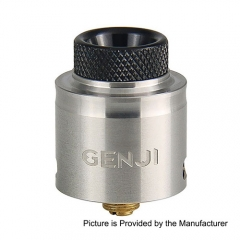 Authentic Tigertek Genji 24mm RDA Rebuildable Dripping Atomizer - Silver