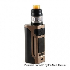 Authentic Wismec Reuleaux RX2 200W 18650/20070 TC VW Variable Wattage Mod + GNOME Tank 4ml Kit - Brown