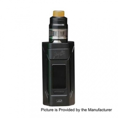 Authentic Wismec Reuleaux RX2 200W 18650/20070 TC VW Variable Wattage Mod + GNOME Tank 4ml Kit - Black