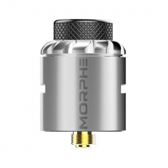 Authentic Tigertek Morphe 24mm RDA Rebuildable Dripping Atomizer w/ BF Pin - Silver