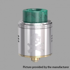 Authentic Vandy Vape Bonza 24mm RDA Rebuildable Dripping Atomizer w/ Bottom Feeding Pin - Silver