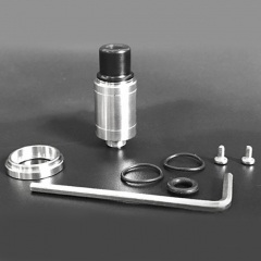 YFTK Speed Revolution Mini Style 14mm 316SS RDA Rebuildable Dripping Atomizer - Silver
