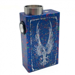 Fire-phoenix 18650 Squonk Mechanical Box Mod w/ Glass Bottle / Spring Contact - Spotted Blue