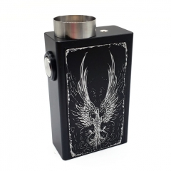 Fire-phoenix 18650 Squonk Mechanical Box Mod w/ Glass Bottle / Spring Contact - Black