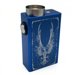 Fire-phoenix 18650 Squonk Mechanical Box Mod w/ Glass Bottle / Spring Contact - Blue
