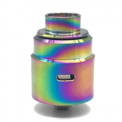 Ulton Entheon 316SS RDA Rebuildable Dripping Atomizer w/ BF Pin/ Caps- Rainbow