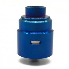 Ulton Entheon 316SS RDA Rebuildable Dripping Atomizer w/ BF Pin/ Caps - Blue