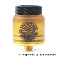 Authentic ADVKEN Artha 24mm RDA Rebuildable Dripping Atomizer w/ BF Pin - Yellow
