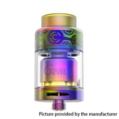 Authentic Gemz Prime Mover 24mm RTA Rebuildable Tank Atomizer 3ml - Rainbow