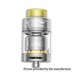 Authentic Gemz Prime Mover 24mm RTA Rebuildable Tank Atomizer 3ml - Silver