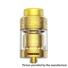 Authentic Gemz Prime Mover 24mm RTA Rebuildable Tank Atomizer 3ml - Gold
