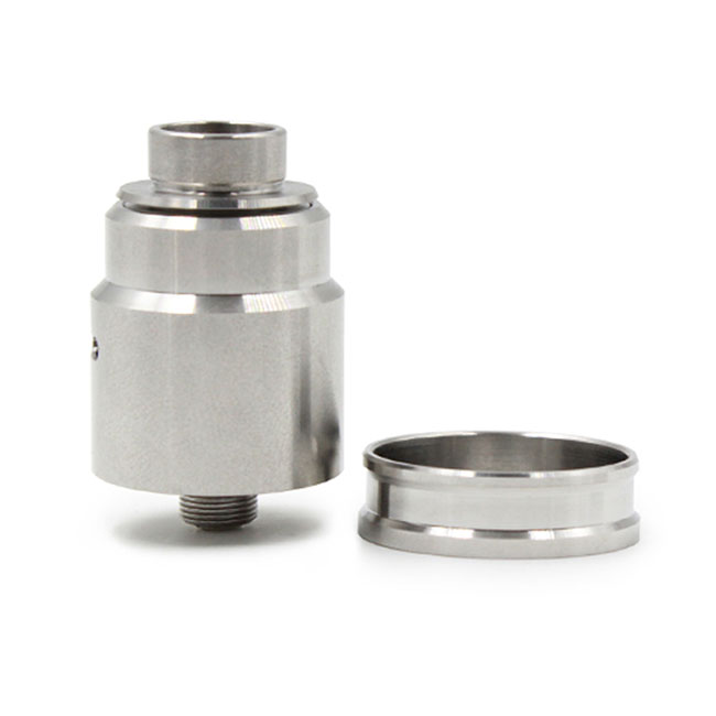 Entheon RDA Rebuildable Dripping Atomizer w/ BF Pin/ 24mm Beauty Ring - Silver
