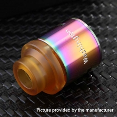 Authentic 5GVape 316SS Washington RDA Rebuildable Dripping Atomizer w/ BF Pin - Rainbow