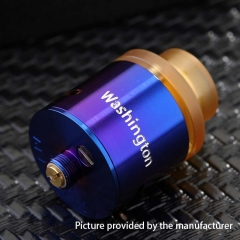 Authentic 5GVape 316SS Washington RDA Rebuildable Dripping Atomizer w/ BF Pin - Enamel Blue