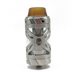 Authentic Teslacigs UFO 25mm RTA Rebuildable Tank Atomizer 3ml - Silver