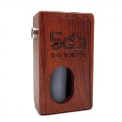 Authentic 5Gvape Supercar BF Squonk 18650 Mechanical Box Mod w/8ml Bottle - Rosewood