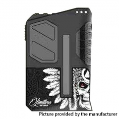 Authentic Limitless Arms Race LMC V2 200W TC VW APV Box Mod - Skull Chief V3