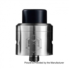 Authentic Matrix 24mm RDA 316SS Rebuildable Dripping Atomizer w/ BF Pin - Silver