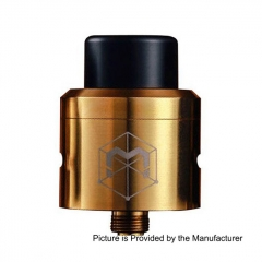 Authentic Matrix 24mm RDA 316SS Rebuildable Dripping Atomizer w/ BF Pin - Gold