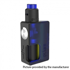 Authentic Vandy Vape 24mm Pulse BF 18650/20700 Squonk Box Mod + Pulse 24 BF RDA Kit w/8ml Bottle - Frosted Blue