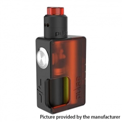 Authentic Vandy Vape 24mm Pulse BF 18650/20700 Squonk Box Mod + Pulse 24 BF RDA Kit w/8ml Bottle - Frosted Red