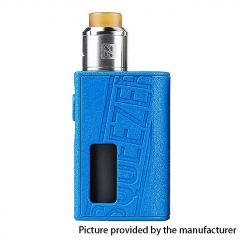 Authentic Hugo Vapor 25mm Squeezer BF 18650 / 20700 Squonk Box Mod + N RDA w/10ml Bottle Kit - Blue