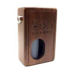 Authentic 5Gvape Supercar BF Squonk 18650 Mechanical Box Mod w/8ml Bottle - Walnut