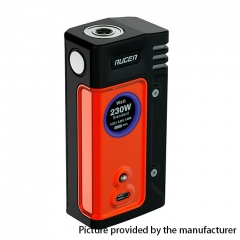 Authentic ThinkVape Ruger 230W Dual 18650 TC VW Variable Wattage Box Mod - Red